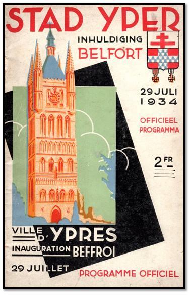 Affiche Inhuldiging Belfort Ieper