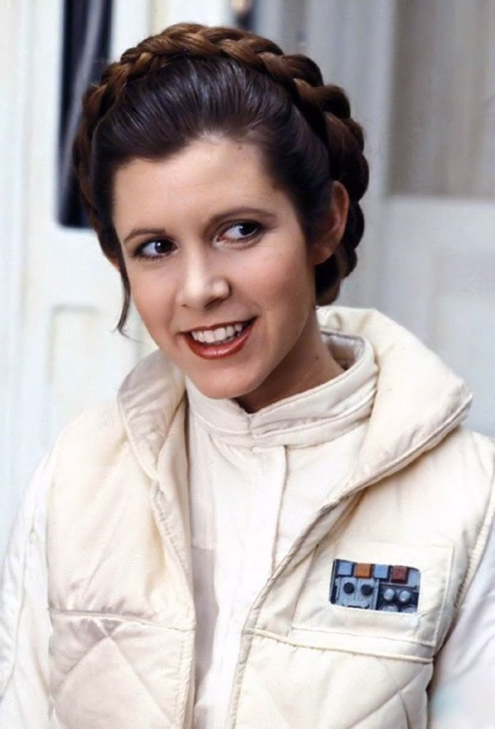 Carry Fisher as Princess Leia Organa