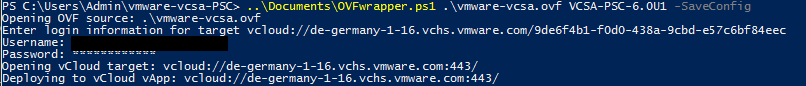 OVFtool wrapper vCloud Air