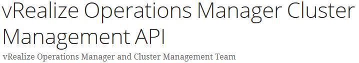 Cluster Management API - CaSa API