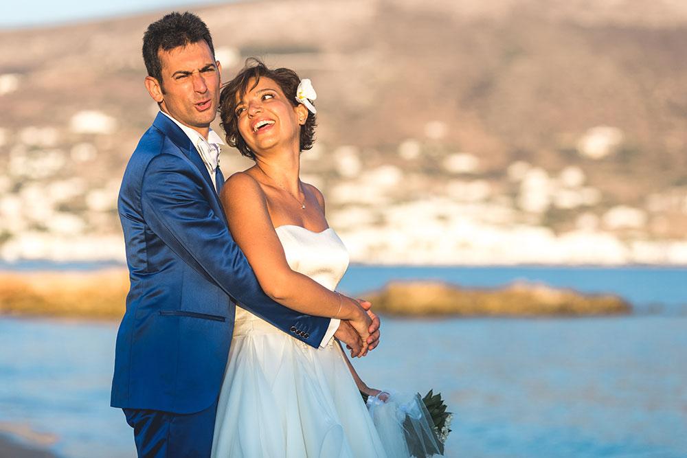 Italian Catholic Wedding in Paros