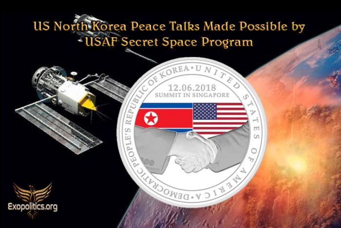 US North Korea Peace Talks Made Possible by USAF Secret Space Program