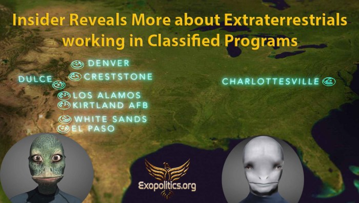 Insider Reveals More about ETs at Classified Facilities
