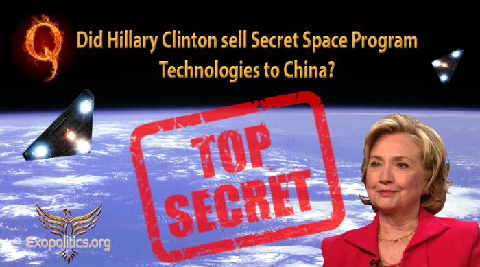 Clinton Selling SSP Info to China