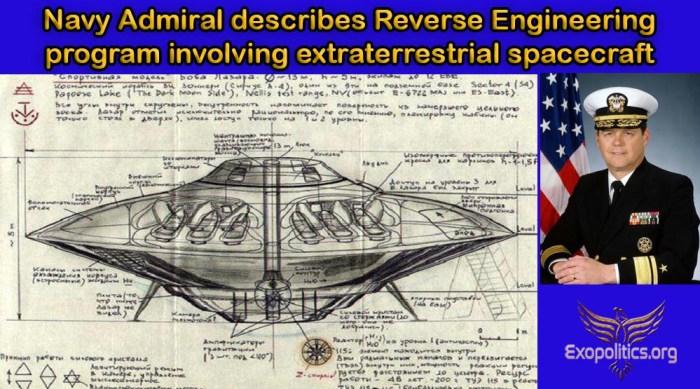Navy Admiral describes reverse engineering alien tech
