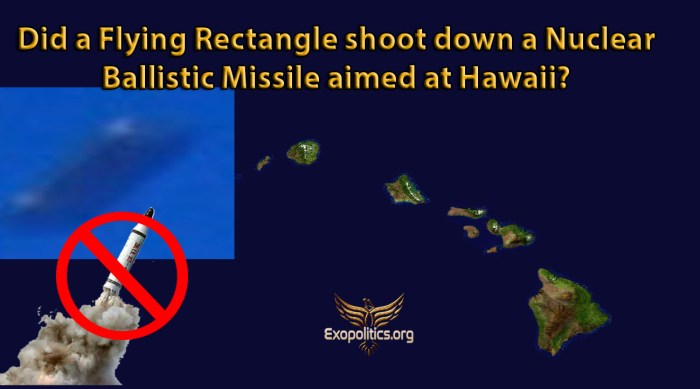 Flying Rectangle and Hawaii Missile Attack
