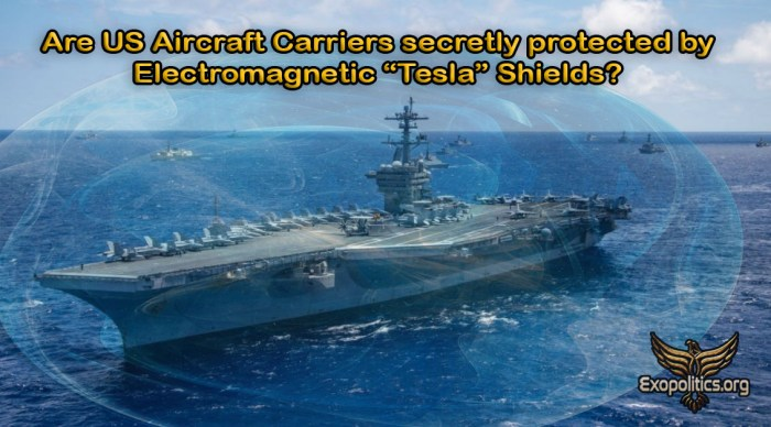 aircraft carrier tesla shield