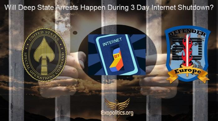 Deep State arrests after 3 day internet shutdown