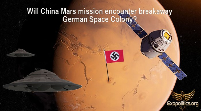 Will China Mars Mission Discover German Space Colony