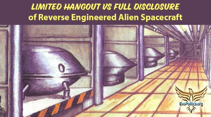 Limited Hangout on Reverse Engineer Alien Spacecraft V2