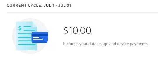 Xfinity Mobile - $10 line access fee