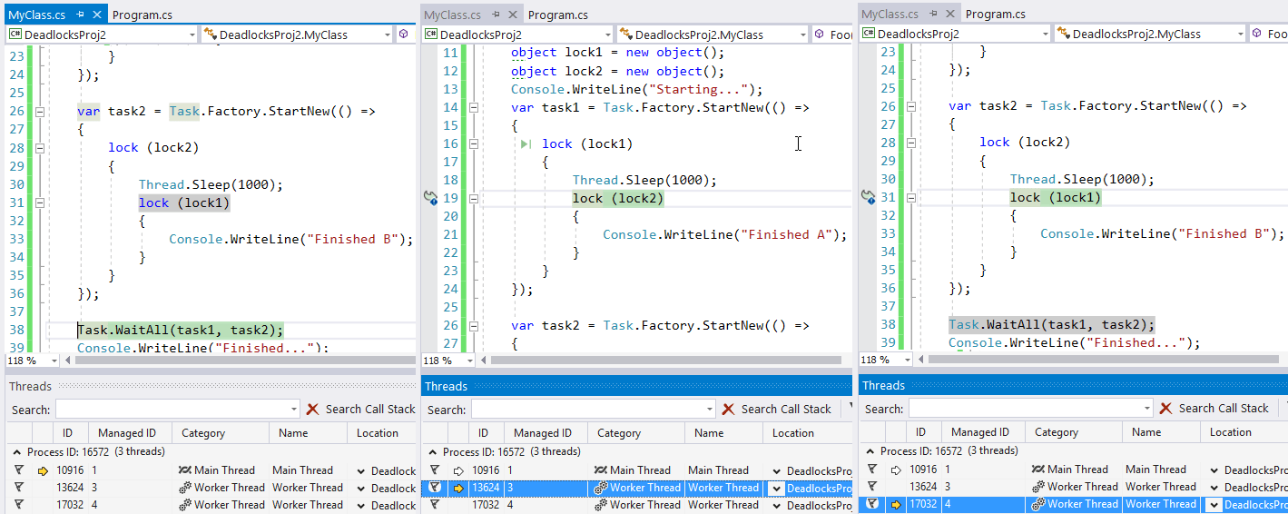 C# Deadlocks in Depth - Part 1 - Michael's Coding Spot