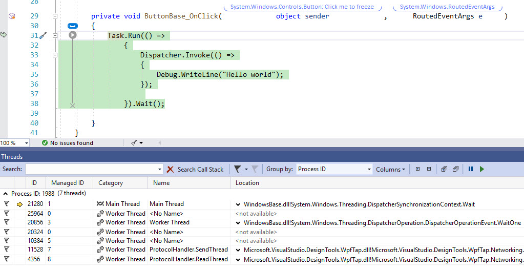 7 Debugging Techniques for when your .NET application Freezes (hangs)