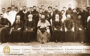 Seo Sang Don in Daegu, Korea (1912) with French Catholic priests