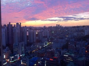 Sunset in Mapo, Seoul