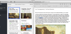 2. Give feedback (audio or text) in Evernote.