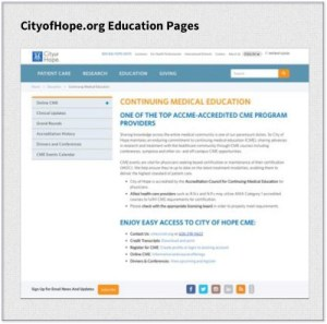 COH Education Pages Example