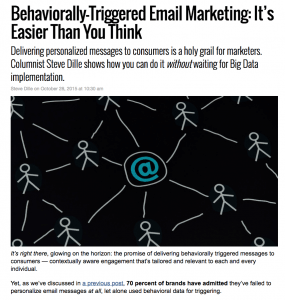 SparkPost MarketingLand column – Behaviorally-Triggered Email