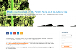 Blogpost – Marketing Automation 2.0, Part 2