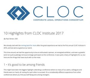 10 Highlights from CLOC Institute 2017 – ThinkSmart
