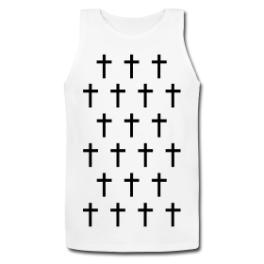 Cross Monogram mens tank top (1) by Michael Shirley