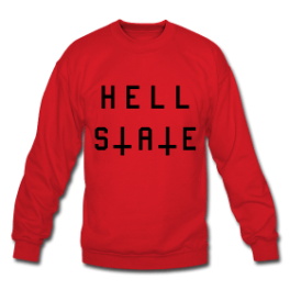 Hell State mens pullover by Michael Shirley