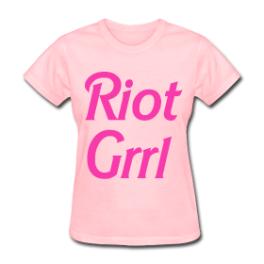 Riot Grrl womens tee by Michael Shirley