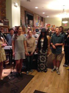 book signing_RiverRead_a capella group