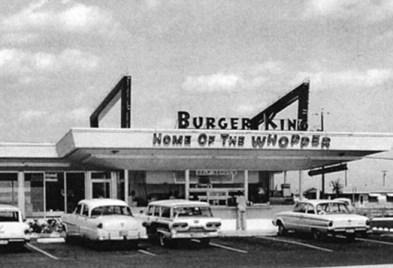 Early Burger King restaurant