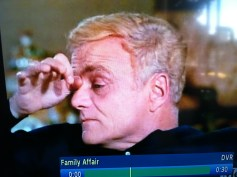 uncle bill touches eyebrow