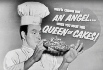 """Bob Hope """"queen of cakes"""" ad"""