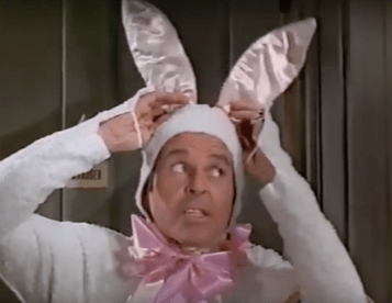 Louis B with bunny ears
