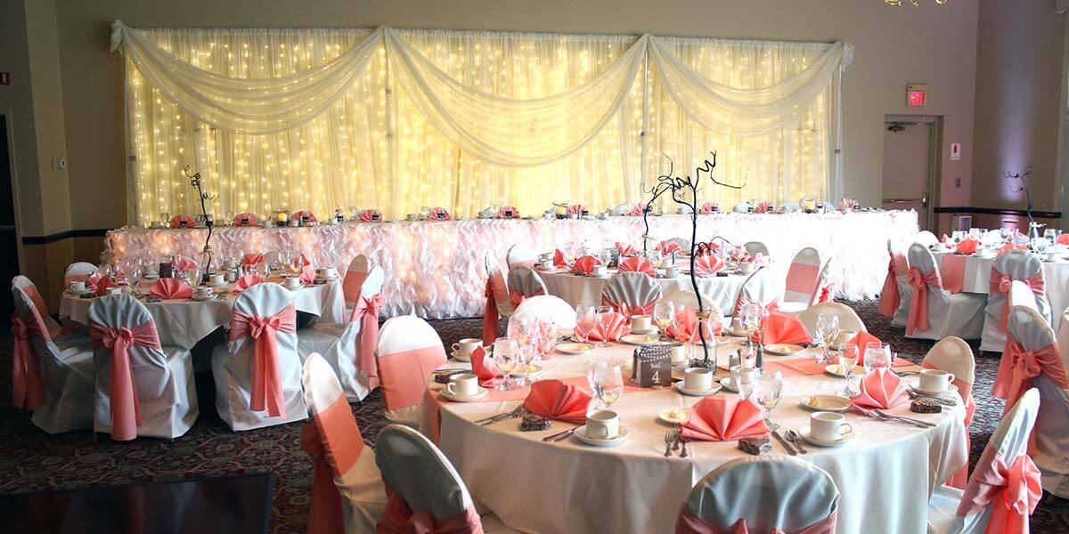 chair covers wedding ideas orange rocking cushions reception | michael's catering & banquets