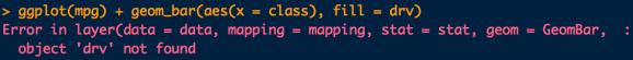 ggplot geom_bar error message
