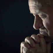 charming old man praying