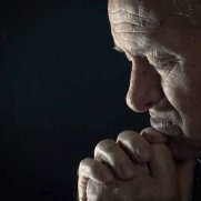 charming old man praying