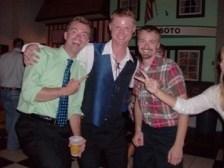 Celebrating Jesse Narr's wedding with my brother. MN, USA.