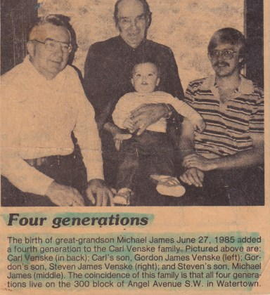 Carver County News Four Generations Venske