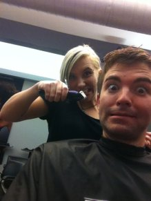 Visiting my favorite stylist, Ashley, at Moxie. Minneapolis, MN, USA.