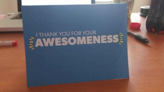 Thank you for your awesomeness card