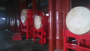 The drums inside the Drum Tower, Beijing