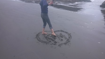 Katie on Ruby Beach