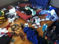 Packing for China. Minneapolis, USA.