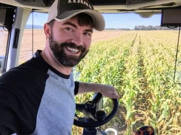 Michael Venske Driving Forage Harvester