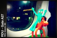 Flying from North Carolina to Minneapolis to host the Securian All Company Meeting with Gumby and Pokey.