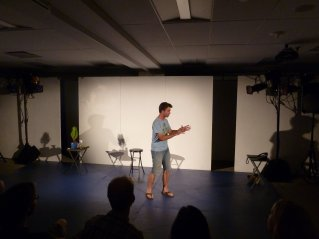 """""""Thumbs Up"""" in performance at the Capital Fringe Festival in Washington, DC."""