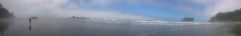 Panoramic of Ruby Beach