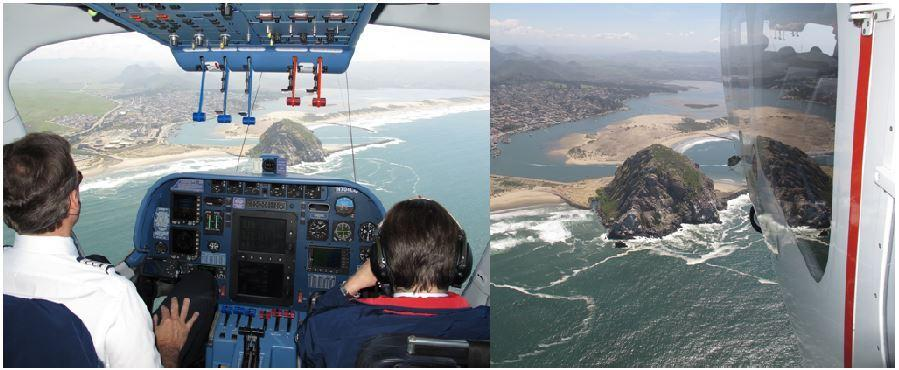 Airship Flight Platform, Radar Altimeter test down the coast of California