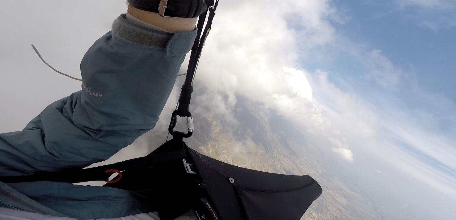 After punching out the side of the cloud I had this unique perspective of the Valle del Cauca