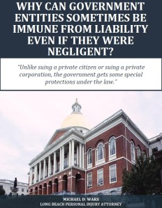 Free Report: Why Can Government Entities Sometimes Be Immune from Liability Even If They Were Negligent